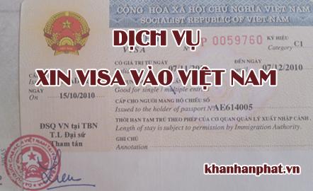 Dịch vụ xin VISA vào Việt Nam